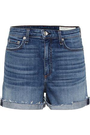 RAG&BONE Women Shorts - Nina high-rise denim shorts