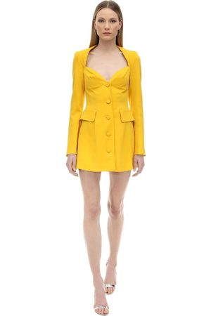MARIANNA SENCHINA Viscose Crepe Bustier Jacket Dress
