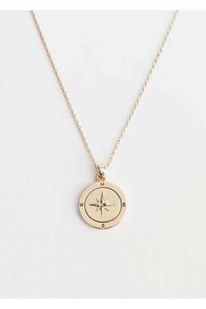 & OTHER STORIES Compass Pendant Necklace