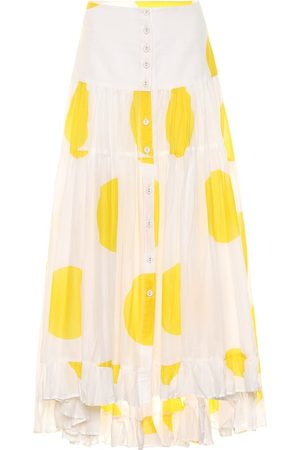 ALEXANDRA MIRO Exclusive to Mytheresa – Penelope dotted cotton maxi skirt