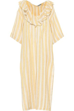 Three Graces London Inez linen blend kaftan