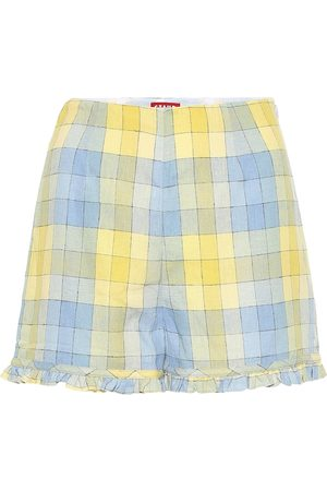 Staud Wilson cotton gingham shorts