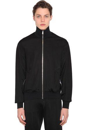 VERSACE Viscose Blend Jersey Track Jacket