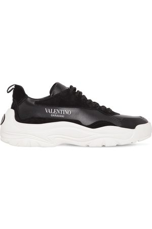 Valentino Low Top Gum Boy Leather & Suede Sneakers