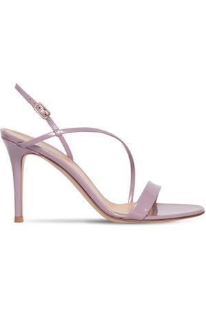 Gianvito Rossi 85mm Manhattan Patent Leather Sandals