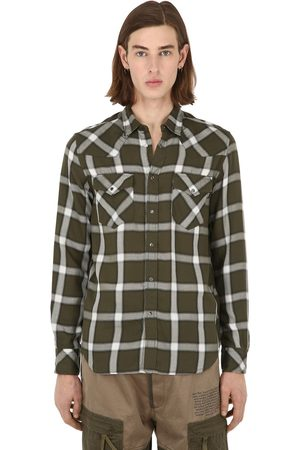Diesel Dyed Check Print Lyocell Shirt
