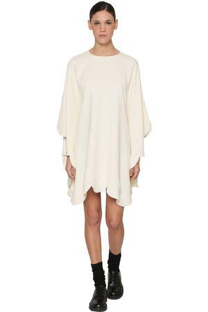 Valentino Women Casual Dresses - Scalloped Viscose Cape Dress
