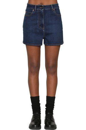 Valentino Vlogo Cotton Blend Shorts
