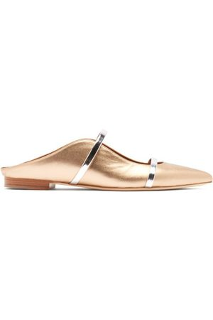 MALONE SOULIERS Maureen Backless Leather Flats - Womens