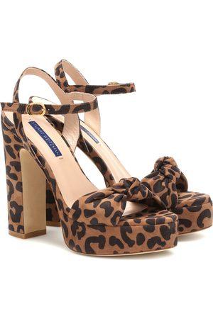 Stuart Weitzman Mirri 140 leopard-print sandals