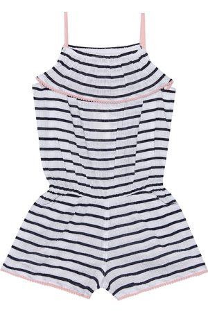 Heidi Klein Striped cotton playsuit