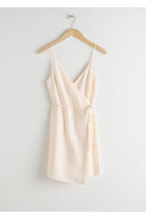 & OTHER STORIES Women Asymmetrical Dresses - Asymmetric Wrap Mini Dress
