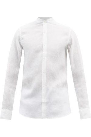 Frescobol Carioca Men Shirts - Stand-collar Linen Shirt - Mens