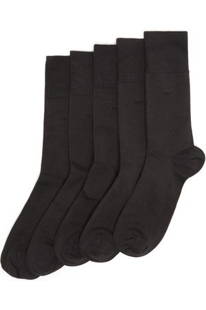 CDLP Pack Of Five Bamboo-blend Socks - Mens - Charcoal