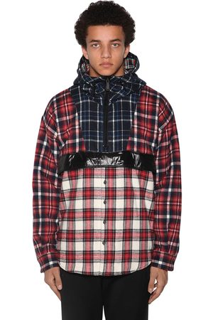Dsquared2 Patchwork Cotton Check Anorak