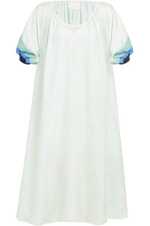 Anaak Catalina Panelled Sleeve Silk Dress - Womens - Multi