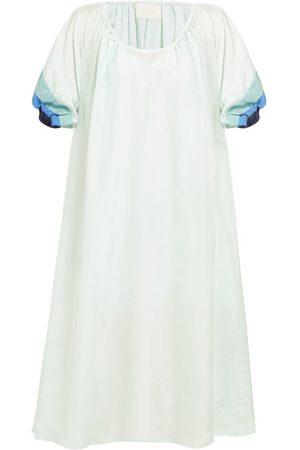 Anaak Women Dresses - Catalina Panelled-sleeve Silk Dress - Womens - Multi