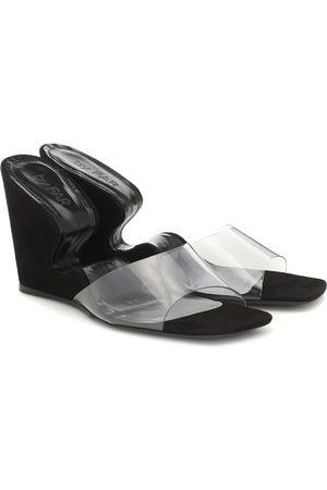 By Far Greta leather wedge sandals