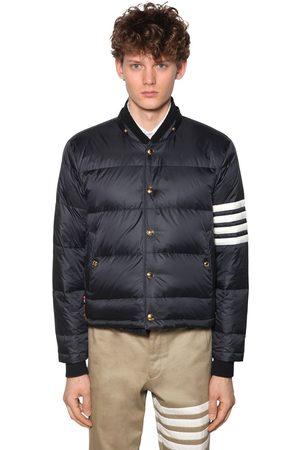 Thom Browne Men Bomber Jackets - Matted Nylon Bomber Down Jacket