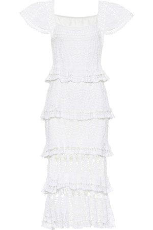 ANNA KOSTUROVA Cotillion crochet maxi dress