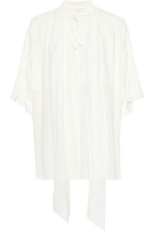 Chloé Silk crepon pussybow blouse