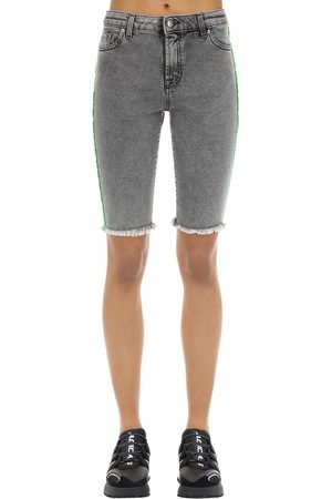 Represent Cotton Blend Denim Riding Shorts