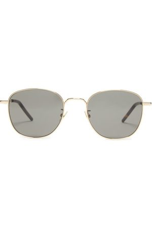Saint Laurent Round Metal Sunglasses - Womens - Multi