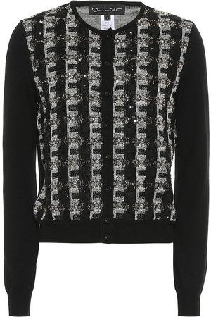 Oscar de la Renta Sequinned wool cardigan