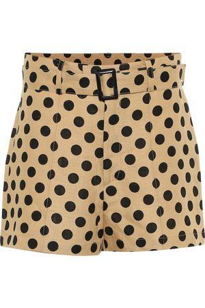Lisa Marie Fernandez Women Shorts - Polka-dot linen shorts