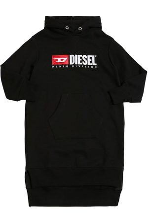 Diesel Logo Patch Cotton Sweatshirt Dress