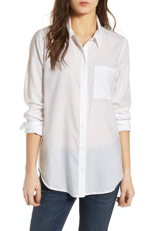 Treasure & Bond Women's Drapey Classic Shirt