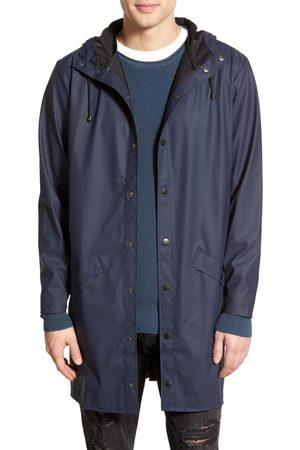 Rains Men's Waterproof Hooded Long Rain Jacket