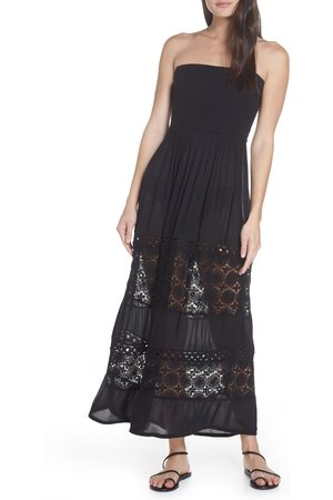 Chelsea Women's Farrah Smocked Cover-Up Maxi Dress