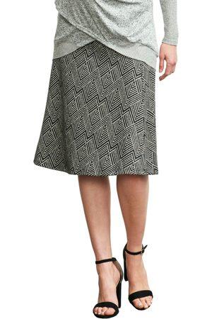 Maternal America Women's Print A-Line Maternity Skirt
