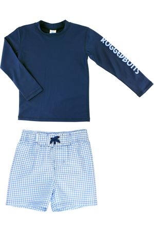 RUGGEDBUTTS Infant Boy's Two-Piece Rashguard Swimsuit
