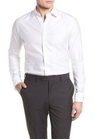 David Donahue Men's Big & Tall Slim Fit Tuxedo Shirt