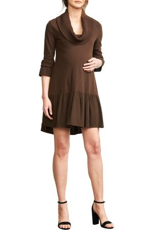 Maternal America Women's Cowl Neck Maternity Dress
