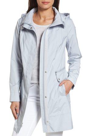 Cole Haan Women Rainwear - Women's Back Bow Packable Hooded Raincoat