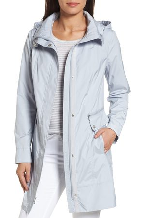 Cole Haan Women's Back Bow Packable Hooded Raincoat