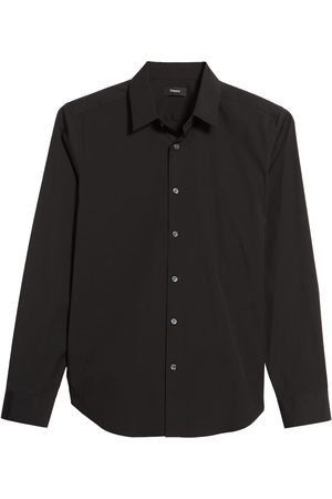 THEORY Men's Sylvain Slim Fit Long Sleeve Sport Shirt