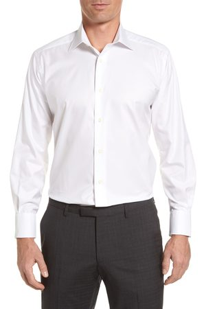 David Donahue Men's Regular Fit Solid Dress Shirt