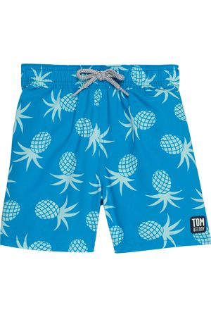 Tom & Teddy Toddler Boy's Pineapple Swim Trunks
