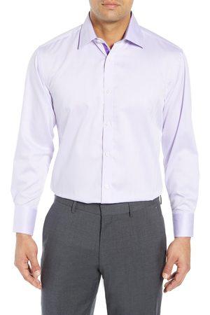 English Laundry Men's Regular Fit Herringbone Dress Shirt