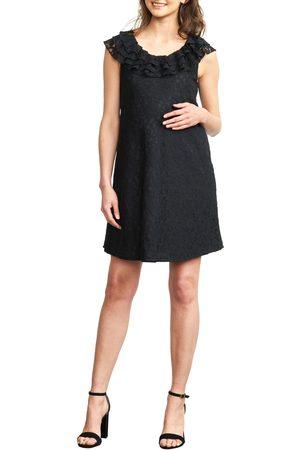 Maternal America Women's Ruffled Maternity Dress