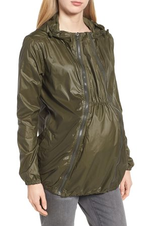 Modern Eternity Women's Waterproof Convertible 3-In-1 Maternity Windbreaker