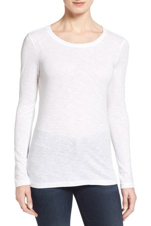 Caslon Women's Caslon Long Sleeve Crewneck T-Shirt