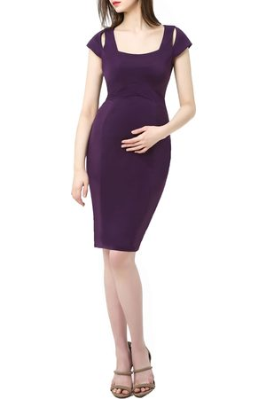 Kimi and Kai Women's Julie Cold Shoulder Body-Con Maternity Dress