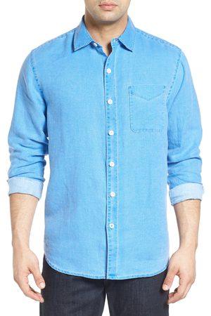 Tommy Bahama Men's Big & Tall Sea Glass Breezer Classic Fit Button-Up Linen Shirt