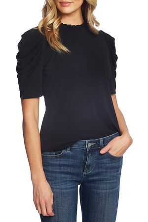 CE&CE Women's Puff Sleeve Crepe Top