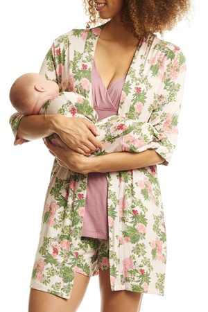 Everly Grey Women's Adalia 5-Piece Maternity/nursing Pajama Set